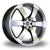 Dare Outlaw Black Polished Alloy Wheels