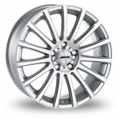 Autec Fanatic Silver Polished Alloy Wheels
