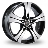 Autec Ethos Black Polished Alloy Wheels
