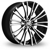 MSW (by OZ) 20-5 Stud Black Polished Alloy Wheels