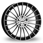 AEZ Valencia (Special Offer) Black Polished Alloy Wheels