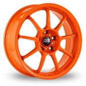 OZ Racing Alleggerita HLT Orange Alloy Wheels