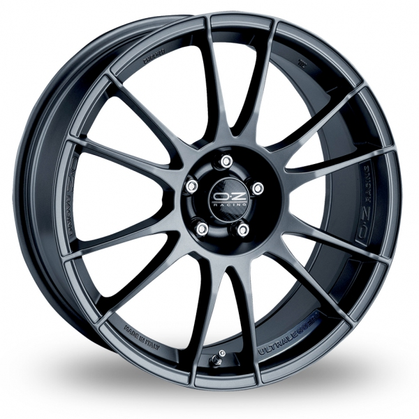 18 Inch OZ Racing Ultraleggera Graphite Alloy Wheels