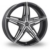 OZ Racing David Graphite Polished Alloy Wheels