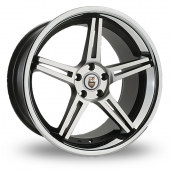 Cades Calisto Black Polished Alloy Wheels