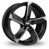 Fondmetal 7900 Black Polished Alloy Wheels