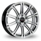 CW by Borbet CW1 Hyper Silver Alloy Wheels