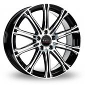 CW by Borbet CW1 Black Polished Alloy Wheels