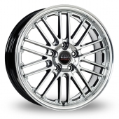 CW by Borbet CW2 Hyper Silver Alloy Wheels