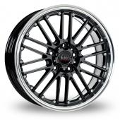CW by Borbet CW2 Black Alloy Wheels