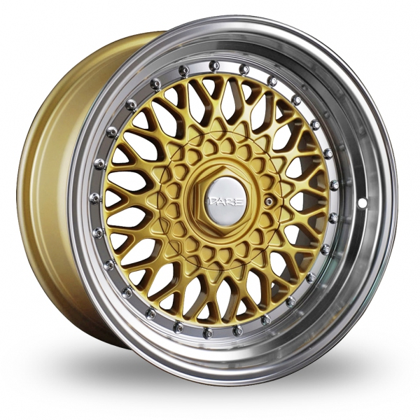 """Picture of 15"""" Dare DR-RS Gold Chrome Rivets"""