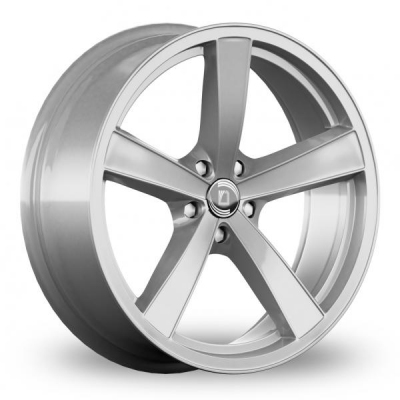 9x21 (Front) & 10.5x21 (Rear) Diewe Trina Silver Alloy Wheels