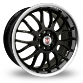 Calibre Askari Black Polished Alloy Wheels