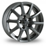 14 Inch Wolfrace Milano Titanium Alloy Wheels