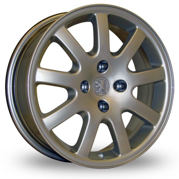 "original peugeot 206 gti cc nimrod hyper silver 16"" alloy wheels"
