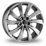 19 Inch Wolfrace Lugano Shadow Chrome Alloy Wheels