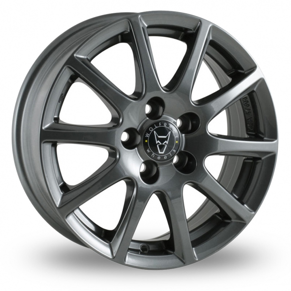 16 Inch Wolfrace Milano Titanium Alloy Wheels