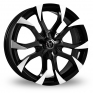18 Inch Wolfrace Assassin Black Polished Alloy Wheels