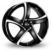 Alutec Shark 5 Black Polished Alloy Wheels