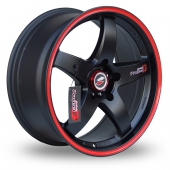 Lenso D1-R Black Red Alloy Wheels