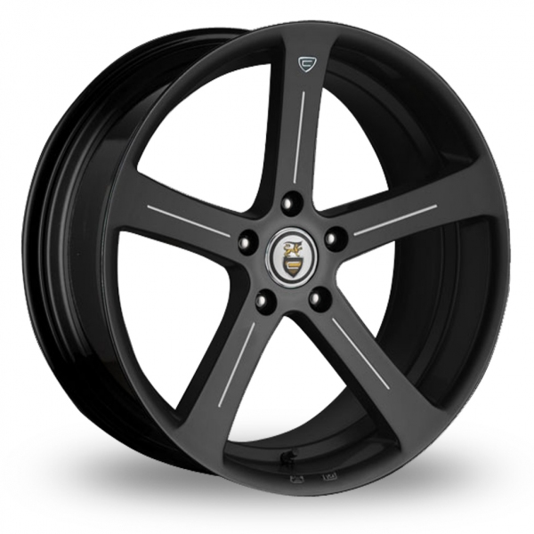 "Picture of 19"" Cades Apollo Accent Black Wider Rear"