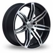 Lenso Conquista Wider Rear Black Polished Alloy Wheels