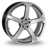 Team Dynamics Jade R Smooth Wider Rear Hi Power Silver Alloy Wheels