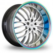 BK Racing 797 Hyper Silver Alloy Wheels