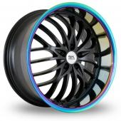 BK Racing 797 Black Alloy Wheels