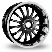 Team Dynamics Equinox II 5x112 Wider Rear Black Alloy Wheels