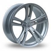 Lenso ES6 Wider Rear Silver Polished Alloy Wheels