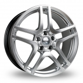 Riva HMC Hyper Silver Alloy Wheels