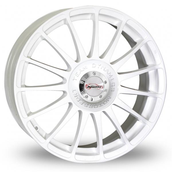 "15"" Team Dynamics Monza R White Alloy Wheels"