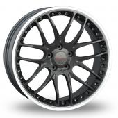 Breyton Race GTP Gun Metal Polished Alloy Wheels