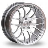 Breyton Race GTP 5x120 Wider Rear Hyper Silver Alloy Wheels