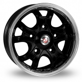 Calibre Dominator Black Polished Alloy Wheels