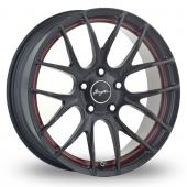 Breyton Race GTS-R 5x120 Wider Rear Black Red Alloy Wheels