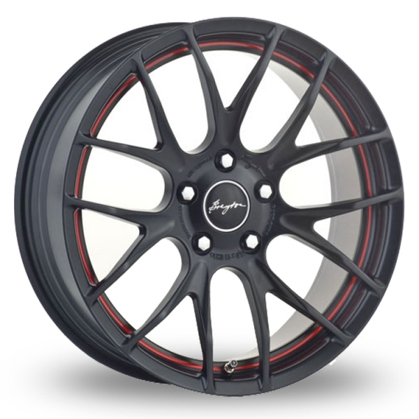 "Picture of 18"" Breyton Race GTS-R Matt Black/Red 5x120 Wider Rear"