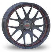 Breyton Race GTS-R 5x120 Wider Rear Gun Metal Red Alloy Wheels
