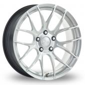 Breyton Race GTS-R 5x120 Wider Rear Hyper Silver Alloy Wheels