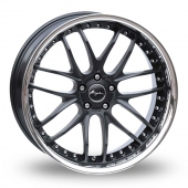 Breyton Race GTR 5x120 Wider Rear Black Alloy Wheels