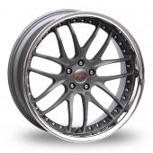 Breyton Race GTR 5x120 Wider Rear Gun Metal Alloy Wheels