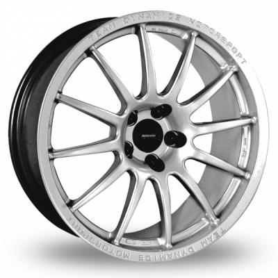 18 Inch Team Dynamics Pro Race 1 2 Silver Alloy Wheels