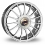 16 Inch Team Dynamics Monza R Hi Power Silver Alloy Wheels