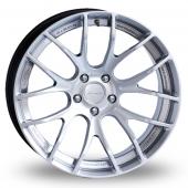 Breyton Race GTSR-M 5x120 Wider Rear Hyper Silver Alloy Wheels