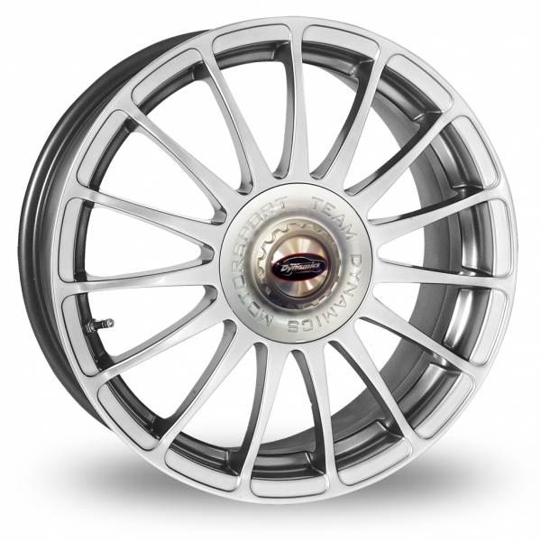 "18"" Team Dynamics Monza R Hi-Power Silver Alloy Wheels"