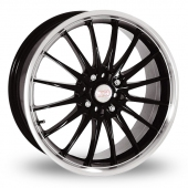 Team Dynamics Jet Black Polished Alloy Wheels