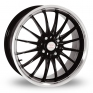 15 Inch Team Dynamics Jet Black Polished Alloy Wheels