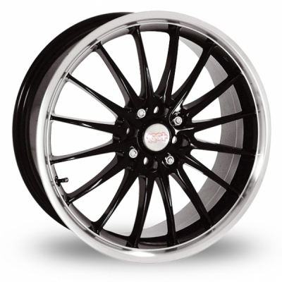 17 Inch Team Dynamics Jet Black Polished Alloy Wheels