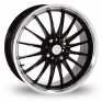 17 Inch Team Dynamics Jet Black Polished Alloy Wheels